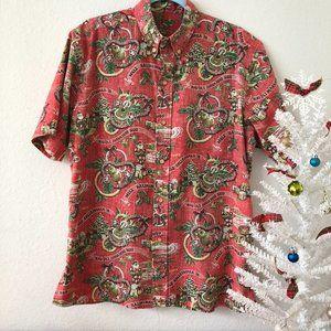 Reyn Spooner 2018 Hawaiian Christmas Songs Shirt,M